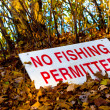 Stock Photo: No Fishing SIgn