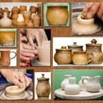 Pottery handmade — Stock Photo