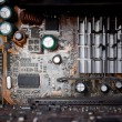 Background of old electronic circuit boards — Stock Photo