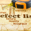 Stock Photo: Defect List