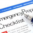 Emergency Preparedness Checklist — Stock Photo