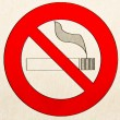 "A warning sign ""no smoking"" - Stock Photo"