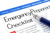 Checklista för krisberedskap — Stockfoto