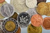 Münzen als hintergrund — Stockfoto