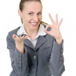 Manager with a bunch of keys — Stock Photo #7495095