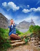 Single woman traveling — Stockfoto