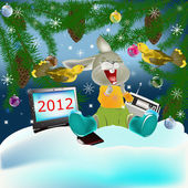 New Year's holiday — Stockvektor