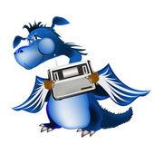 Dragon bleu foncé un symbole du nouveau 2012 sur le calendrier de l'orient — Photo
