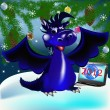Dark blue dragon-New Year's a symbol of 2012 — Stock fotografie