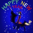 Dark blue dragon-New Year's a symbol of 2012 — Imagen vectorial