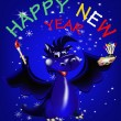 Dark blue dragon-New Year's a symbol of 2012 — Grafika wektorowa