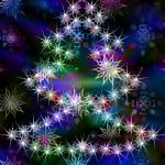 Holidays winter background — Stock Photo