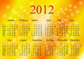 2012 Calendar. — Stock Photo