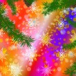 Abstract celebratory winter illustration — Stock Photo