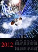 2012 calendar.format a3 — Stockfoto