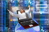 Computador inovadora da tecnologia internet — Foto Stock