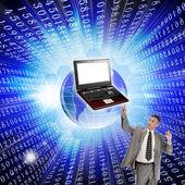 Innovative computer the technology Internet — Stock Photo