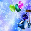 Dark blue dragon-New Year's a symbol of 2012 — Stock Photo #7301742