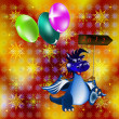 Dark blue dragon-New Year's a symbol of 2012 — Stockfoto