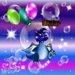 Dark blue dragon-New Year's a symbol of 2012 — ストック写真