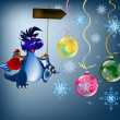 Dark blue dragon-New Year's a symbol of 2012 — Foto de Stock