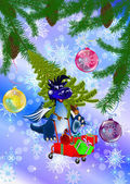 Dark blue dragon-New Year's a symbol of 2012 — Zdjęcie stockowe
