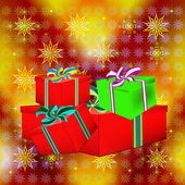 New Year's celebratory gifts — Stok fotoğraf