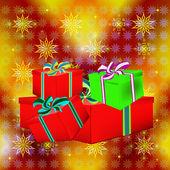 New Year's celebratory gifts — Foto de Stock