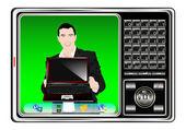 Creation of hi-tech models of phones — Stock Vector