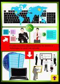 Il website.vector di tecnologie internet — Vettoriale Stock