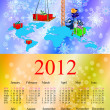 Dark blue dragon a symbol of new 2012.Calendar — Foto de Stock