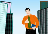The successful businessman — Stock Photo