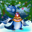 Dark blue dragon-New Year's a symbol of 2012 — Stock Photo #7584702