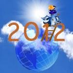 Dark blue Dragon the New Year's builder — Stock Photo #7617380