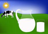 Fresh cow milk — Stock Photo