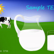 Fresh cow milk — Stock Vector