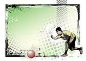 Kickball plakat 3 — Wektor stockowy