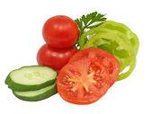 Fresh sliced vegetables. — Stock Photo
