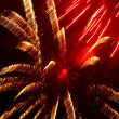 Golden And Red Fireworks. — Stock Photo