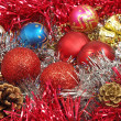Multicolored christmas balls. — Foto Stock