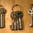 The bunch of old rusty keys. — Stock Photo