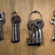 Rusty old keys. - Stock Photo