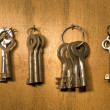 Old rusty keys. — Stock Photo
