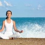 Yoga meditation — Stock Photo