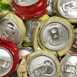 Stock Photo: Texture from smashed cans
