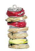 Shape from smashed cans — Stock Photo