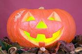 Creepy pumpkin for halloween party — Stock Photo