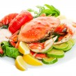 Crab dinner - Stock Photo