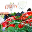 Stock Photo: Lobster and seafood