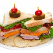 Club sandwich on white - Stock Photo